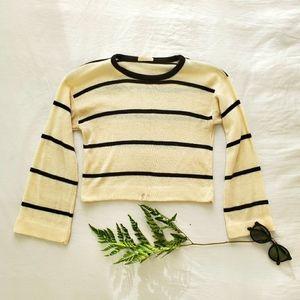 BOGO VINTAGE stripped cropped sweater